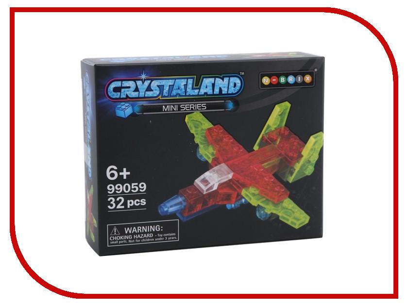 Конструктор Crystaland SHGS004 Мини Самолет 32 дет бюсси м самолет без нее
