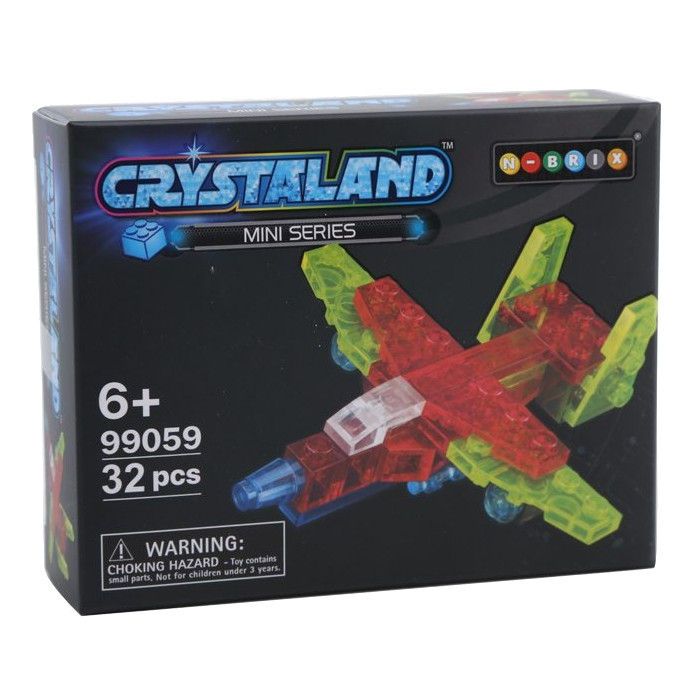 Конструктор Crystaland SHGS004 Мини Самолет 32 дет
