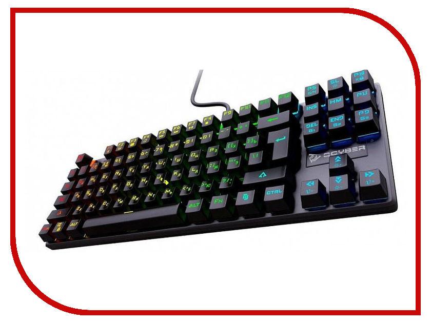 Клавиатура Qcyber Dominator QC-03-008DV01 клавиатура qcyber dominator tkl black usb gamer rgb
