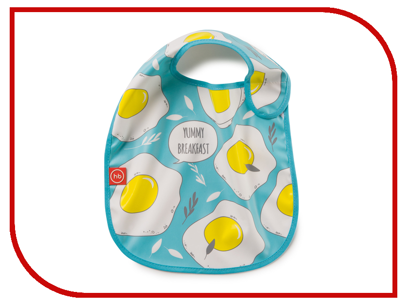 Нагрудник на липучке Happy Baby Waterproof Baby Bib Blue 16009