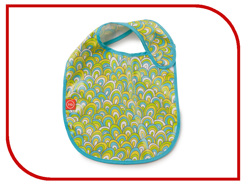 Нагрудник на липучке Happy Baby Waterproof Baby Bib Colorful 16009
