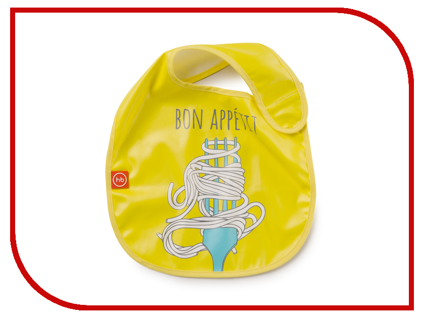 Нагрудник на липучке Happy Baby Waterproof Baby Bib Yellow 16009