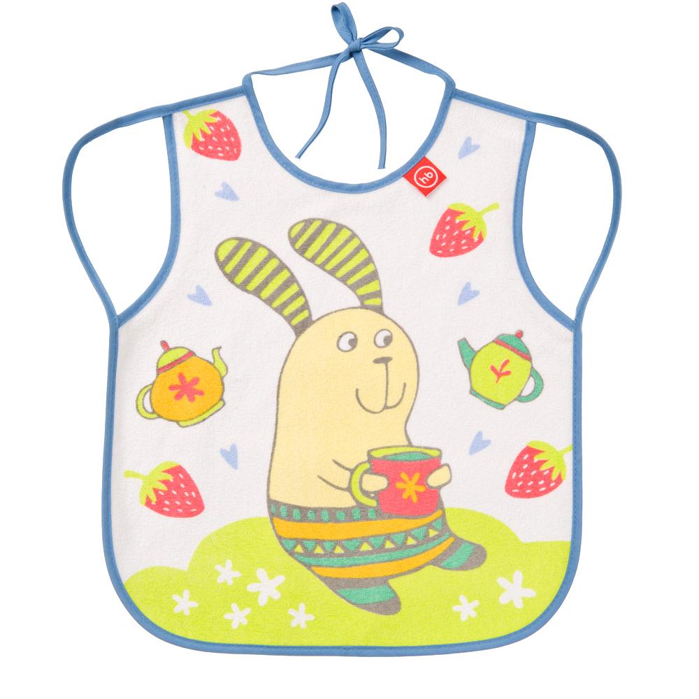 Нагрудный фартук Happy Baby 16011 Bib With Hangers Rabit Lilac happy baby нагрудный фартук на липучке happy baby birds жёлтый