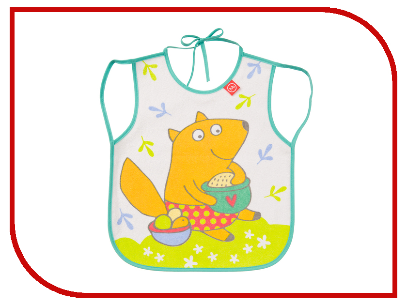 Нагрудный фартук Happy Baby Bib With Hangers Fox Mint 16011