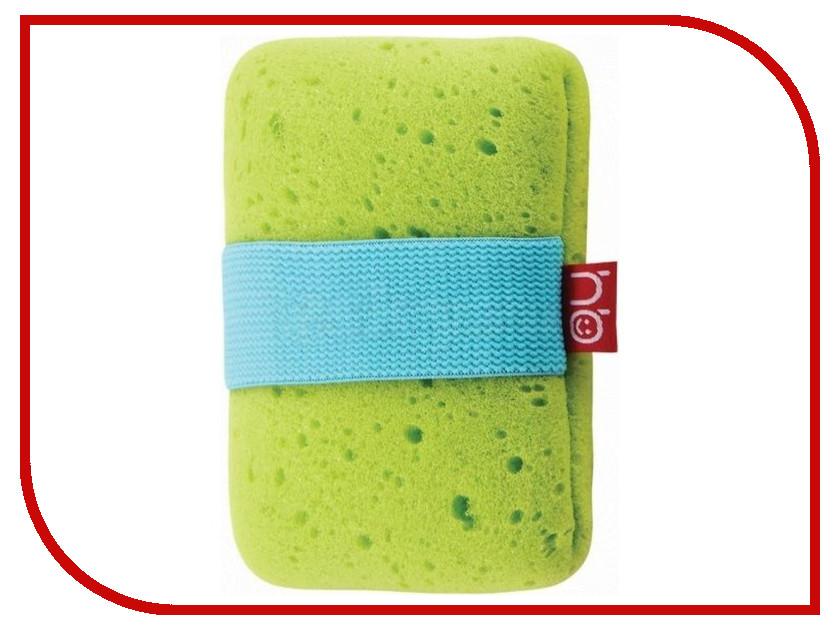 Мочалка с эластичным фиксатором на руку Happy Baby Sponge+ Green 35004