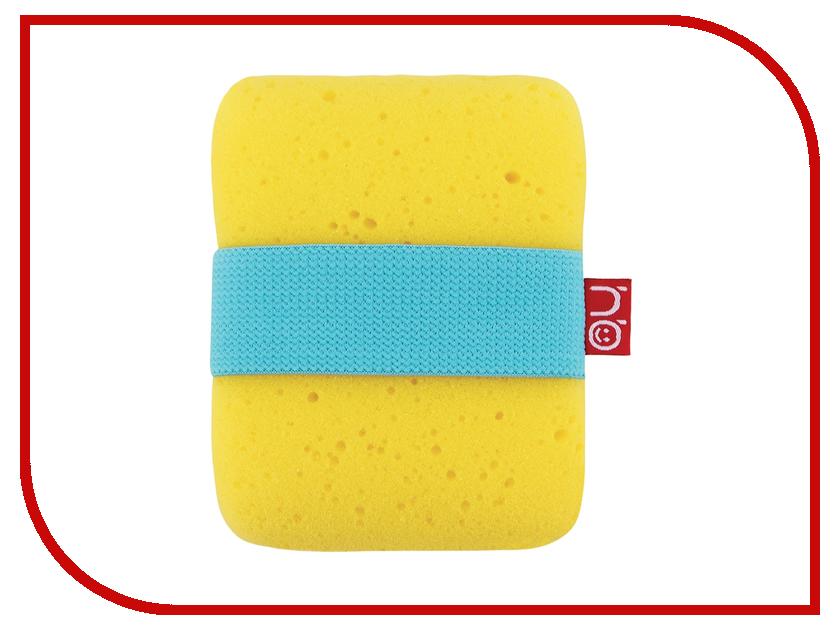 Мочалка с эластичным фиксатором на руку Happy Baby Sponge+ Yellow 35004