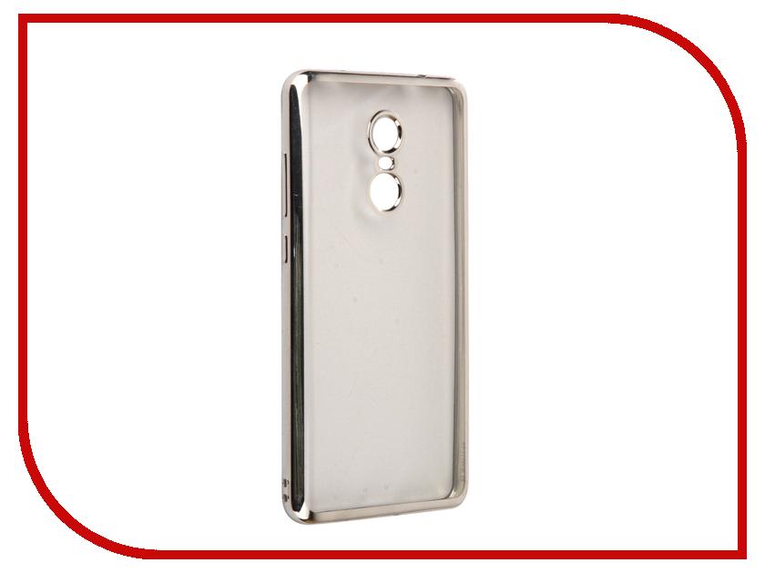 Аксессуар Чехол Xiaomi Redmi Note 4X iBox Blaze Silicone Silver frame