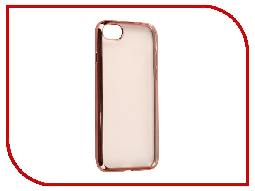 Аксессуар Чехол iBox Blaze Silicone для APPLE iPhone 8 Pink frame аксессуар чехол ibox element для apple iphone 7 plus red gold frame