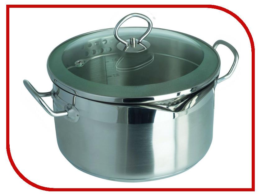 Кастрюля Regent Inox Pasta Vitro 3.5L 20x11cm 93-PSv-04 кастрюля 3 5 л regent pasta vitro 93 psv 04