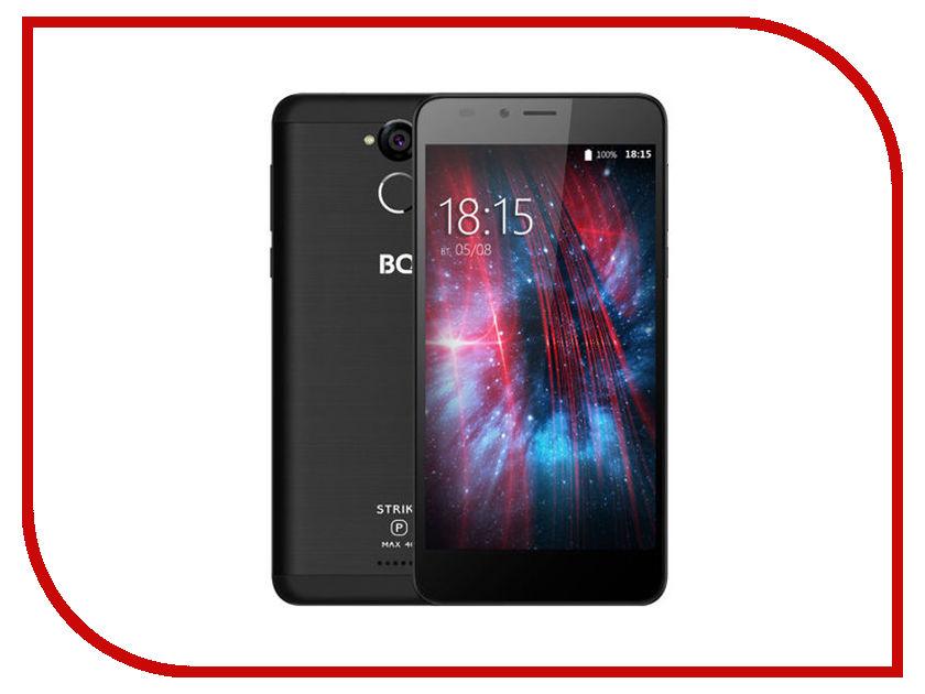 Сотовый телефон BQ 5510 Strike Power Max 4G Black смартфон bq bq 5510 strike power max 4g золотистый mediatek mt6737 1гб 8 гб 5 5 1280x720 13mpix dualsim 3g 4g bt android 7 0