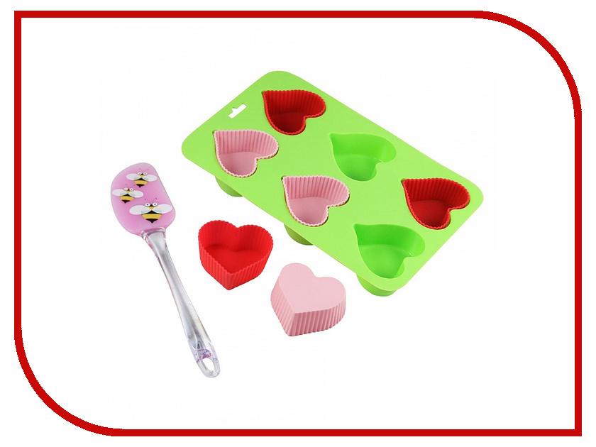 Форма для выпечки Webber ВЕ-4238S/8 Сердечко кухонная принадлежность webber нож для нарезки яблок ве 5241
