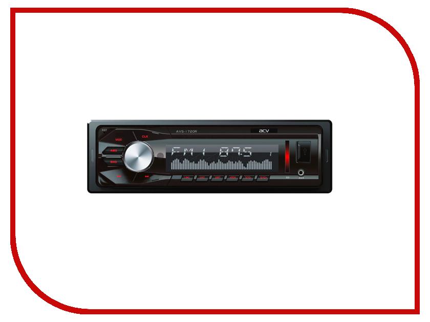 Автомагнитола ACV AVS-1720R Red