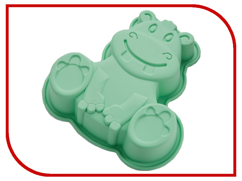 Форма для выпечки Webber BE-4394S Бегемот Green форма для выпечки webber be 4382s лев light blue