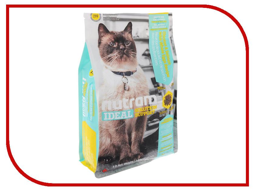 Корм Nutram Sensitive Курица Лосось 1.8kg для кошек с чувствительной кожей и шерстью и желудком CKK98256