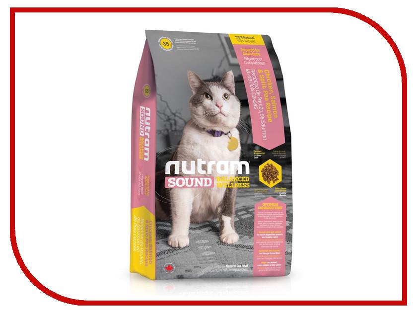 Корм Nutram Adult & Senior Cat Курица и лосось 400g для взрослых кошек CKK411 пребиотический напиток viyo reinforces cat adult для взрослых кошек 7 х 30 мл