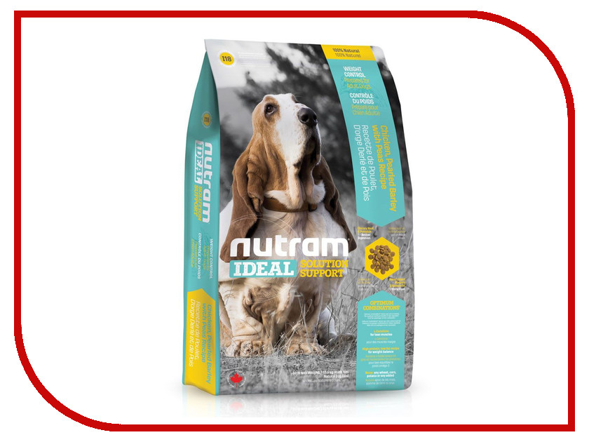 Корм Nutram Weight Control Dog Курица 2.72kg для собак контроль веса, белковая диета CDK98233 скипидарная растирка travopar контроль веса