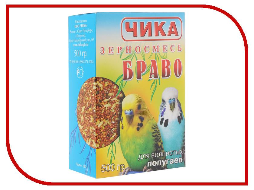 Корм Чика Браво 500g для волнистых попугаев R00255 корм чика био для средних попугаев 1000 г