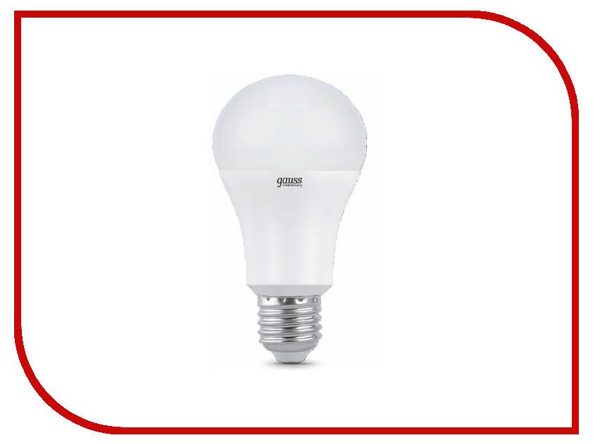 Лампочка Gauss Elementary A60 15W E27 2700K 23215 лампочка ipower 9w 2700k 720lm e27 iphb9w2700ke27 1001952