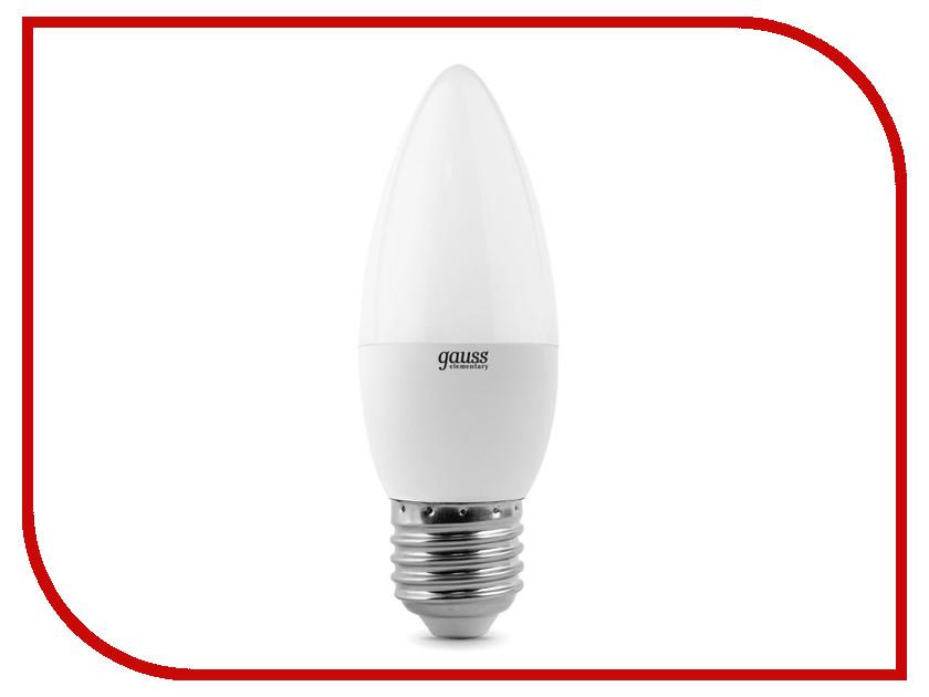 Лампочка Gauss Elementary Candle 6W E27 4100K 33226 лампочка iteria шар 6w 4100k e27 матовый 803008