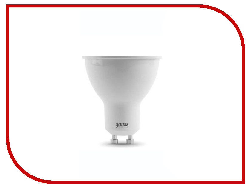 Лампочка Gauss Elementary MR16 5.5W GU10 4100К 13626 светодиодная лампа 13626 gauss