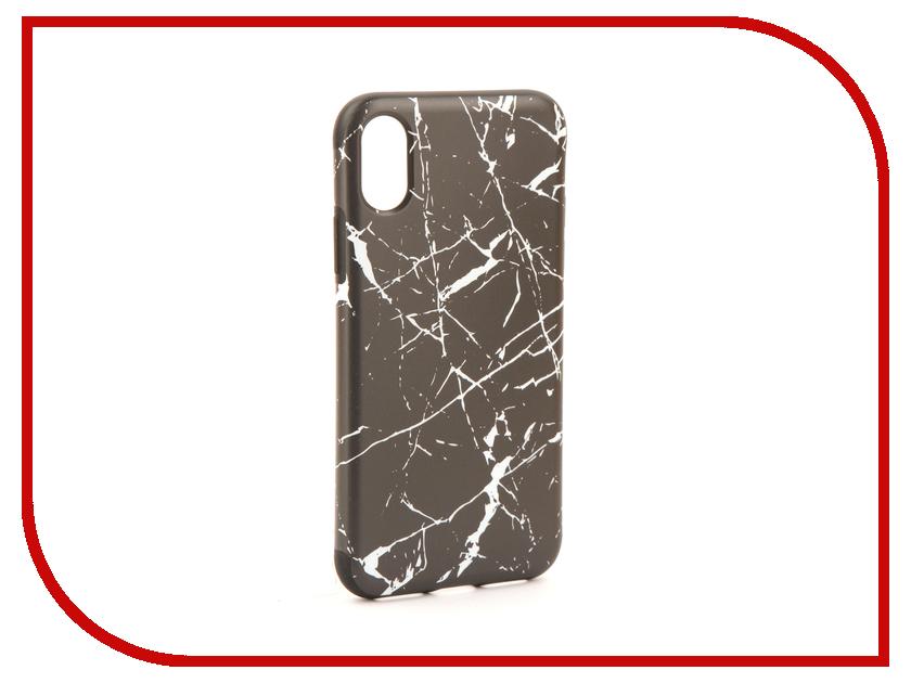 Аксессуар Чехол Rock Origin Grained для iPhone X Stone Black 07899