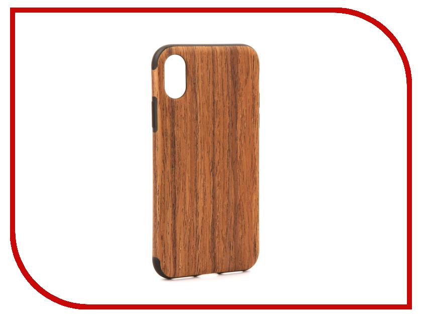 Аксессуар Чехол Rock Origin Grained для iPhone X Rosewood 07868
