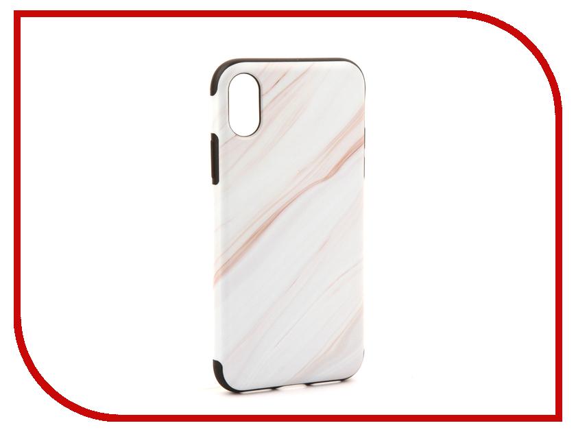 Аксессуар Чехол Rock Origin Grained для iPhone X Stone White 07905