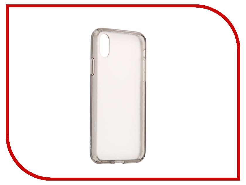 Аксессуар Чехол Rock Pure Pro для iPhone X Transparent-Black 07844