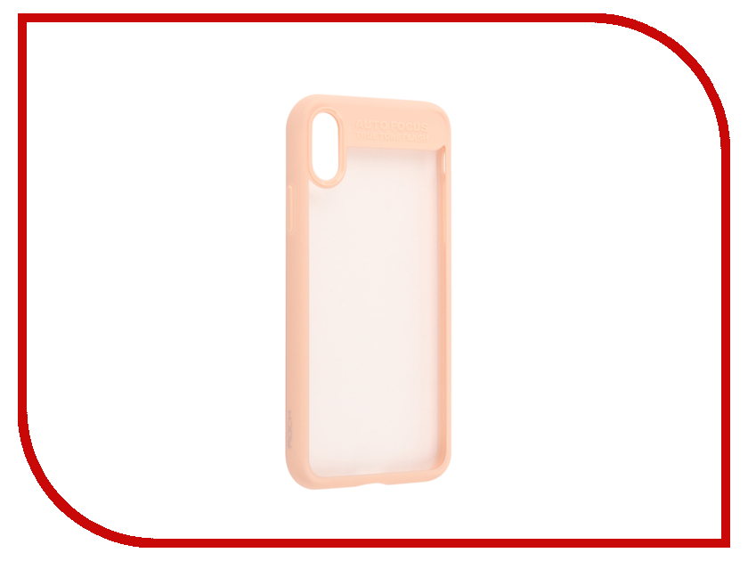 Аксессуар Чехол Rock Clarity для iPhone X Pink 07820