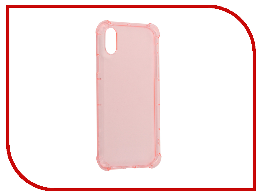 Аксессуар Чехол Rock Fence для iPhone X Transparent-Pink 07783