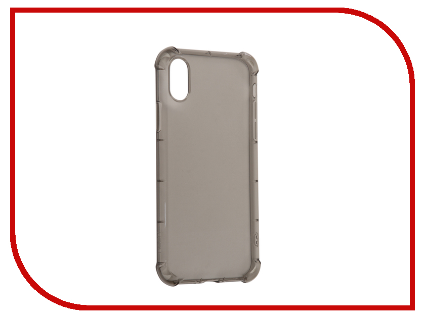 Аксессуар Чехол накладка Rock Fence для iPhone X Transparent-Black 07776