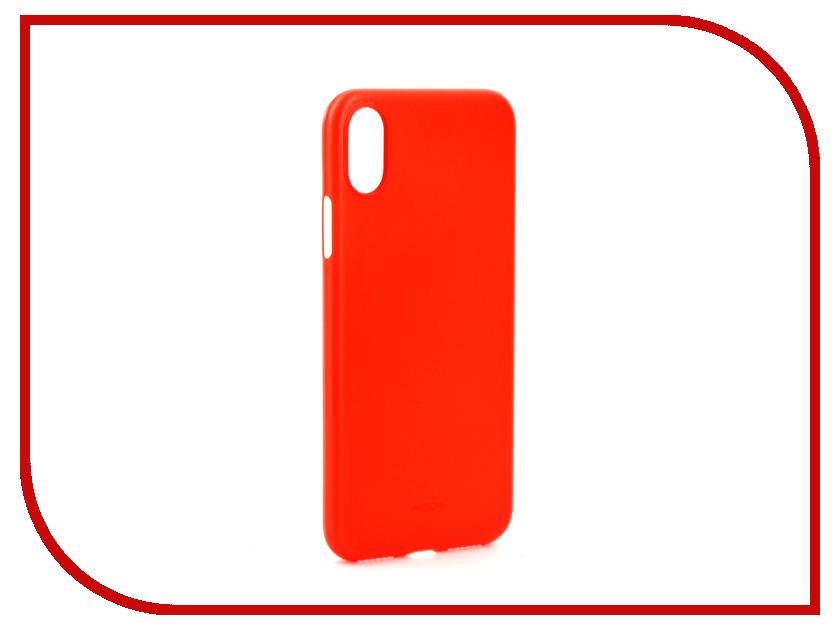 Аксессуар Чехол Rock PP Protection для iPhone X Red 08599