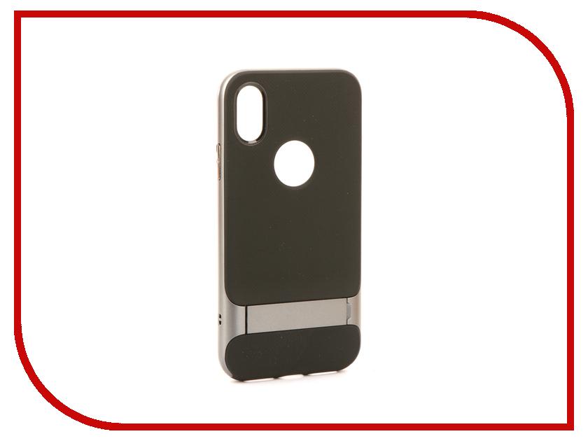 Аксессуар Чехол Rock Royce Kickstand для iPhone X Grey 08674