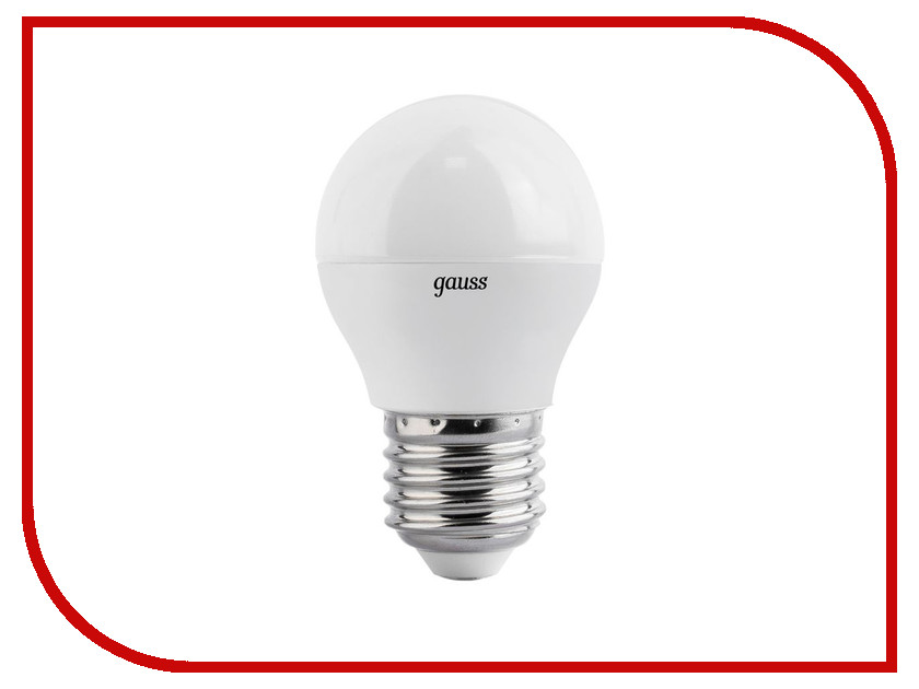 Лампочка Gauss LED Globe E27 7W 4100K 105102207-S