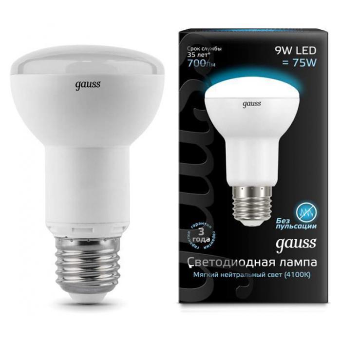 Лампочка Gauss LED E27 R63 9W 4100K 106002209