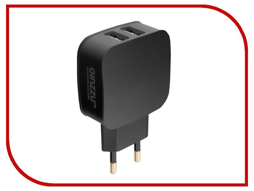 Зарядное устройство Ginzzu 2xUSB 2.1A Black GA-3008B