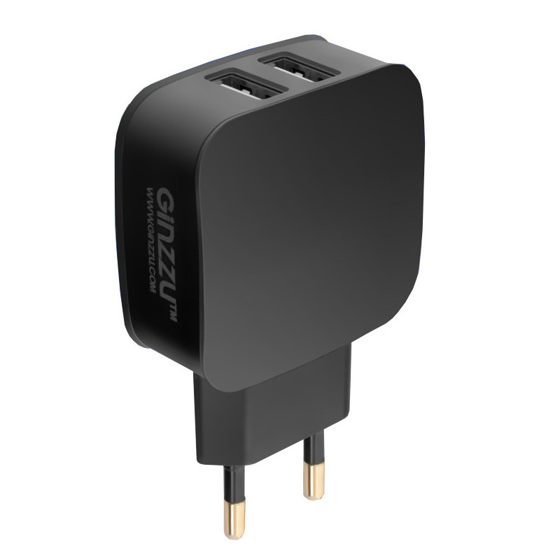 Зарядное устройство Ginzzu 2xUSB 2.1A Black GA-3008B сетевое зарядное устройство ginzzu ga 3003b usb 1 2a черный