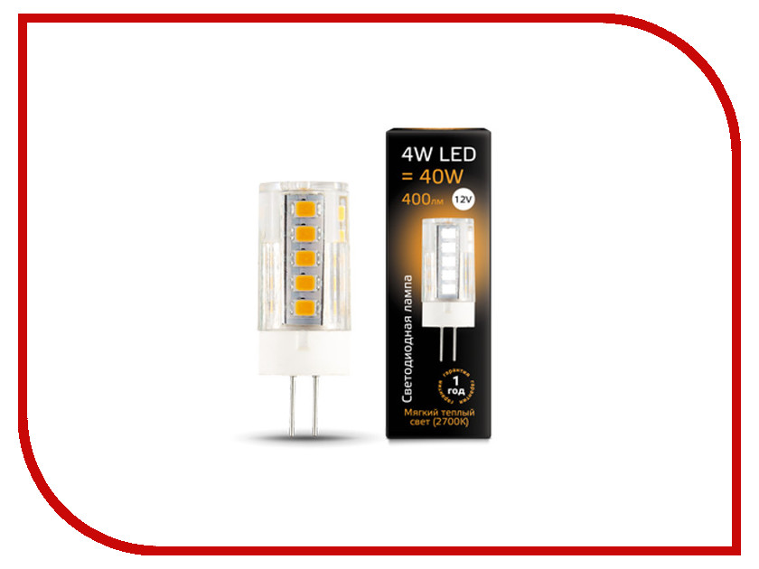 цена Лампочка Gauss LED G4 4W 12V 2700K 207307104