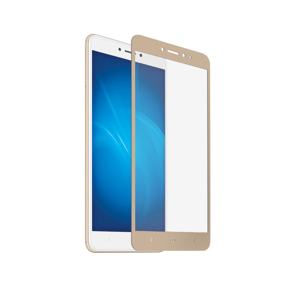 Аксессуар Закаленное стекло DF для XiaomiMiMax2Full ScreenxiColor-15 Gold защитное стекло df scolor 11 для samsung galaxy j2 prime grand prime 2016 с рамкой черный