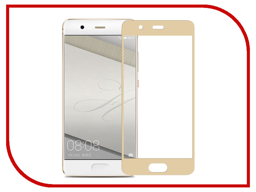 Аксессуар Защитное стекло Huawei Ascend P10 2017 Ainy Full Screen Cover 0.33mm Gold аксессуар защитное стекло ainy 0 25mm для apple iphone 7