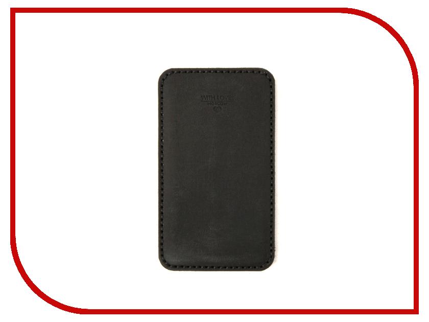 Аксессуар Чехол With Love. Moscow LG K10 2017 / K20 Plus кожаный Black 10215 lg k10 7 glass black