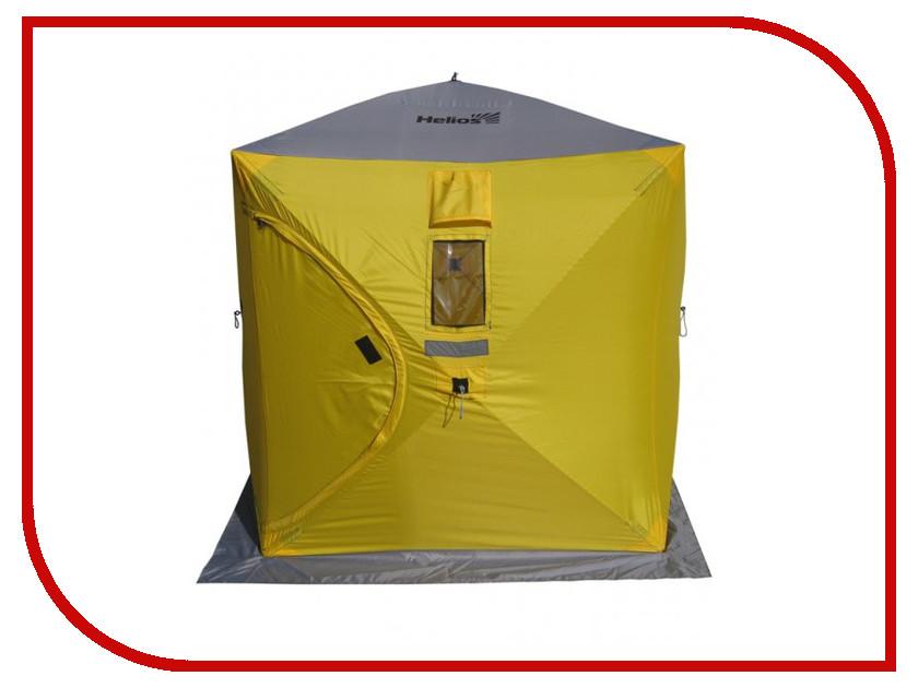 трекинговая палатка helios breeze 3 Палатка Helios Куб 1.5x1.5m Yellow-Grey