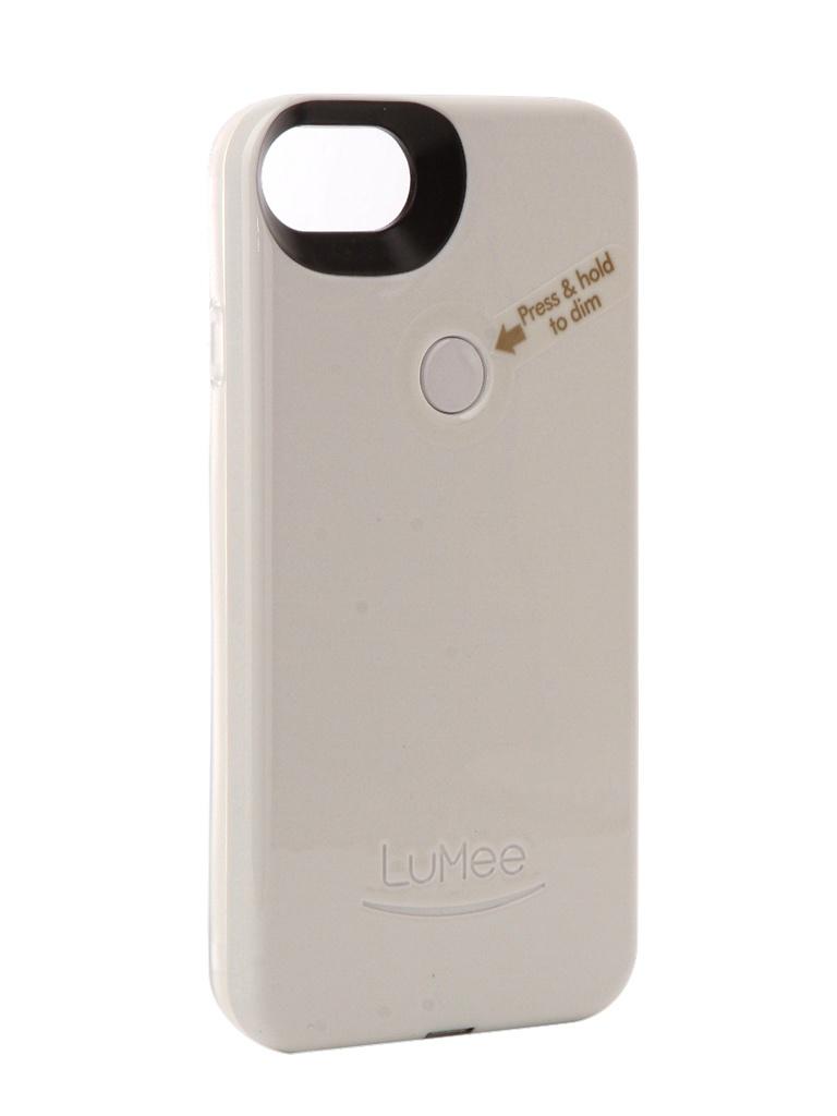 Чехол LuMee для APPLE iPhone 7 TWO White Glossy L2-IP7-WHTGLS