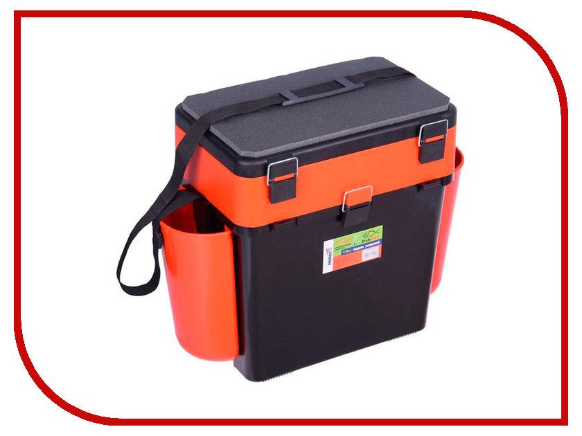 Ящик Helios FishBox 19L Orange аксессуар helios ящик двухполочный blue
