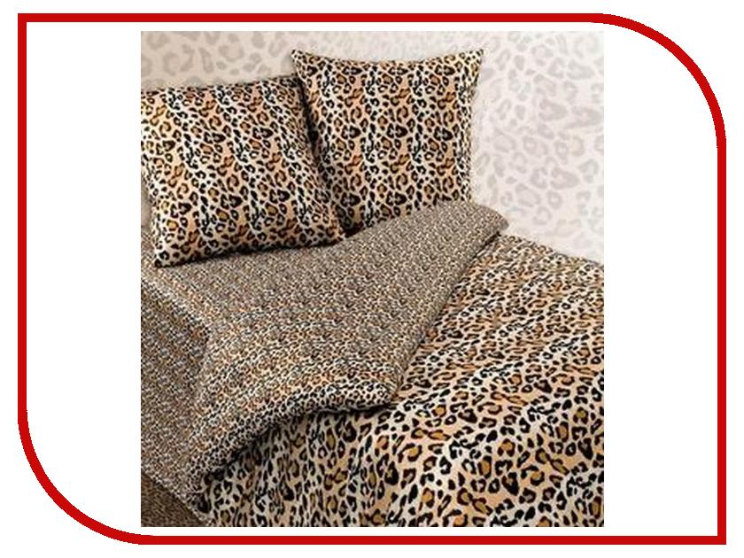 Фото Постельное белье Экзотика Леопардовая шкура Комплект 1.5 спальный Сатин