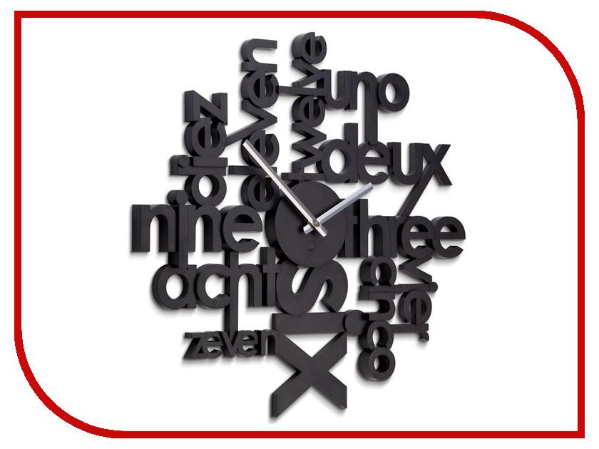 Часы Umbra Lingua Black 118990-040 часы настенные lingua цвет черный 118990 040