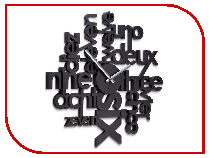 Часы Umbra Lingua Black 118990-040 arch umbra