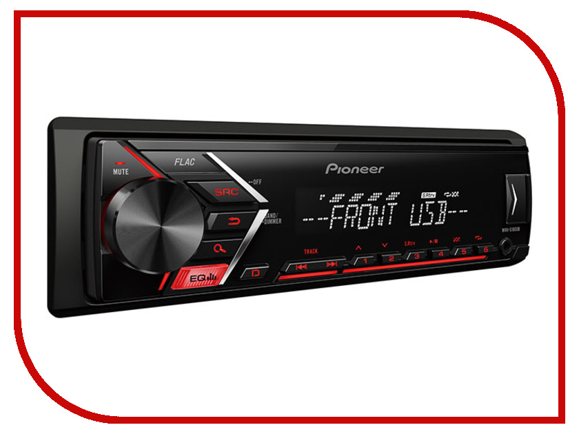 Автомагнитола Pioneer Flash MVH-S100UB сабвуфер pioneer ts w106m 250вт 1100вт 4ом