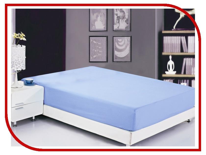 Простынь Valtery PRMF-1 90x200 Простынь на резинке Софткоттон Blue