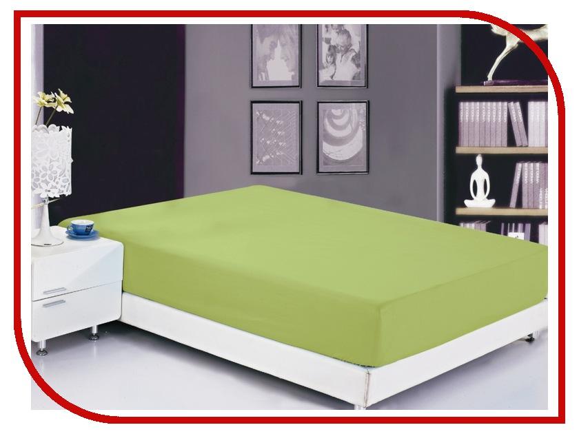 Простынь Valtery PRMF-7 200x220 Простынь на резинке Софткоттон Lime Green